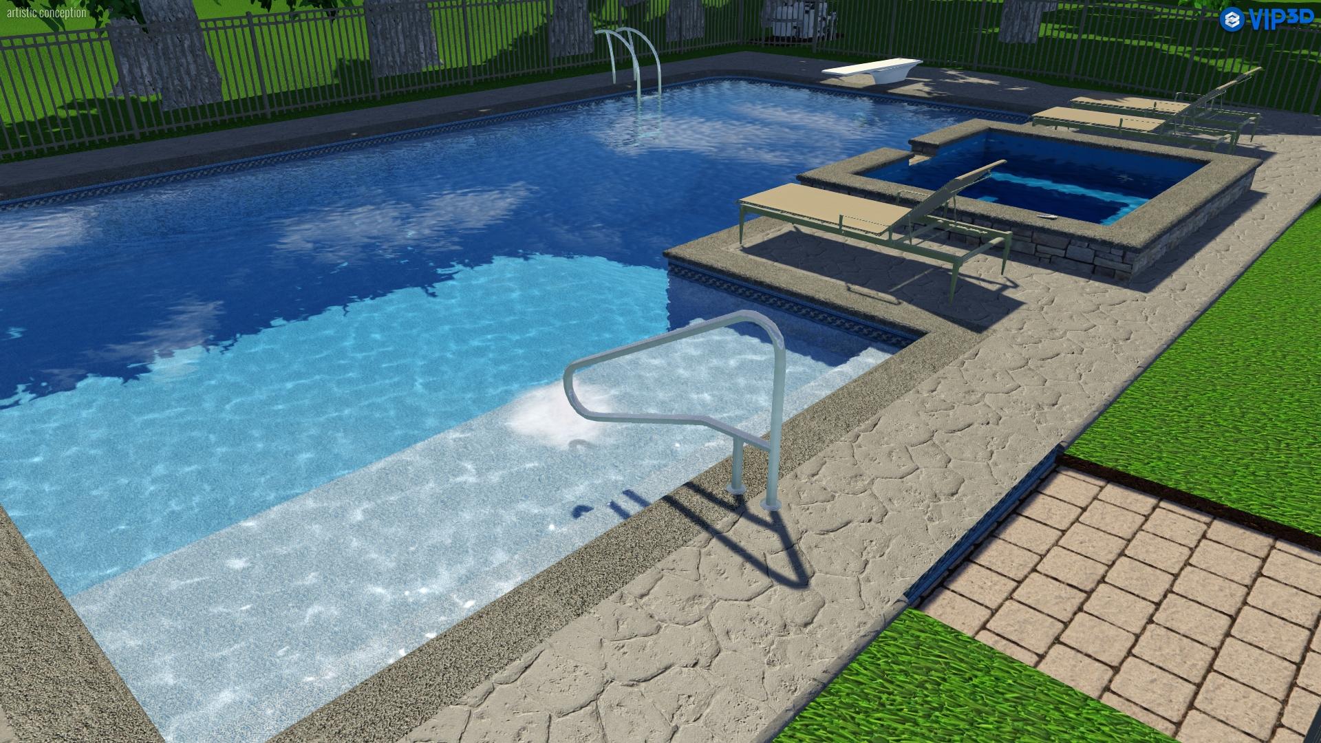 Raleigh Landscape Design 3d Pool Spa Services Choice P S