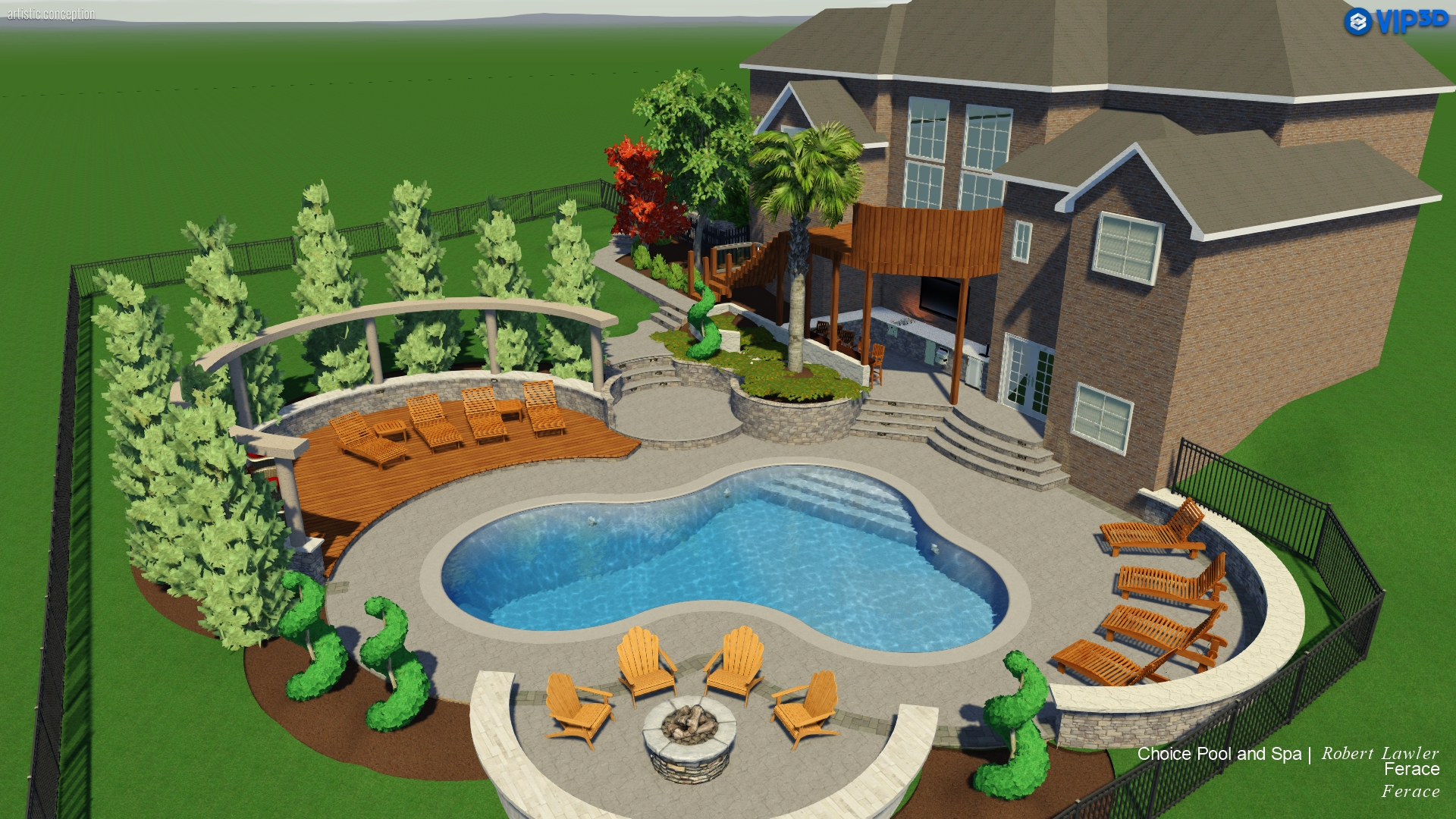 Raleigh Landscape Design: 3D Pool & Spa Services | Choice P&S