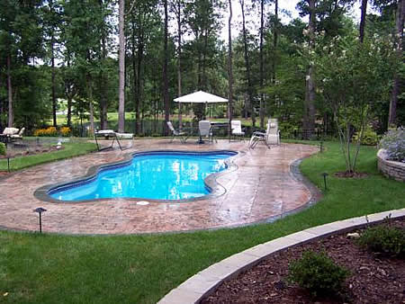 Raleigh fiberglass pools in ground above designs for Pool design raleigh nc