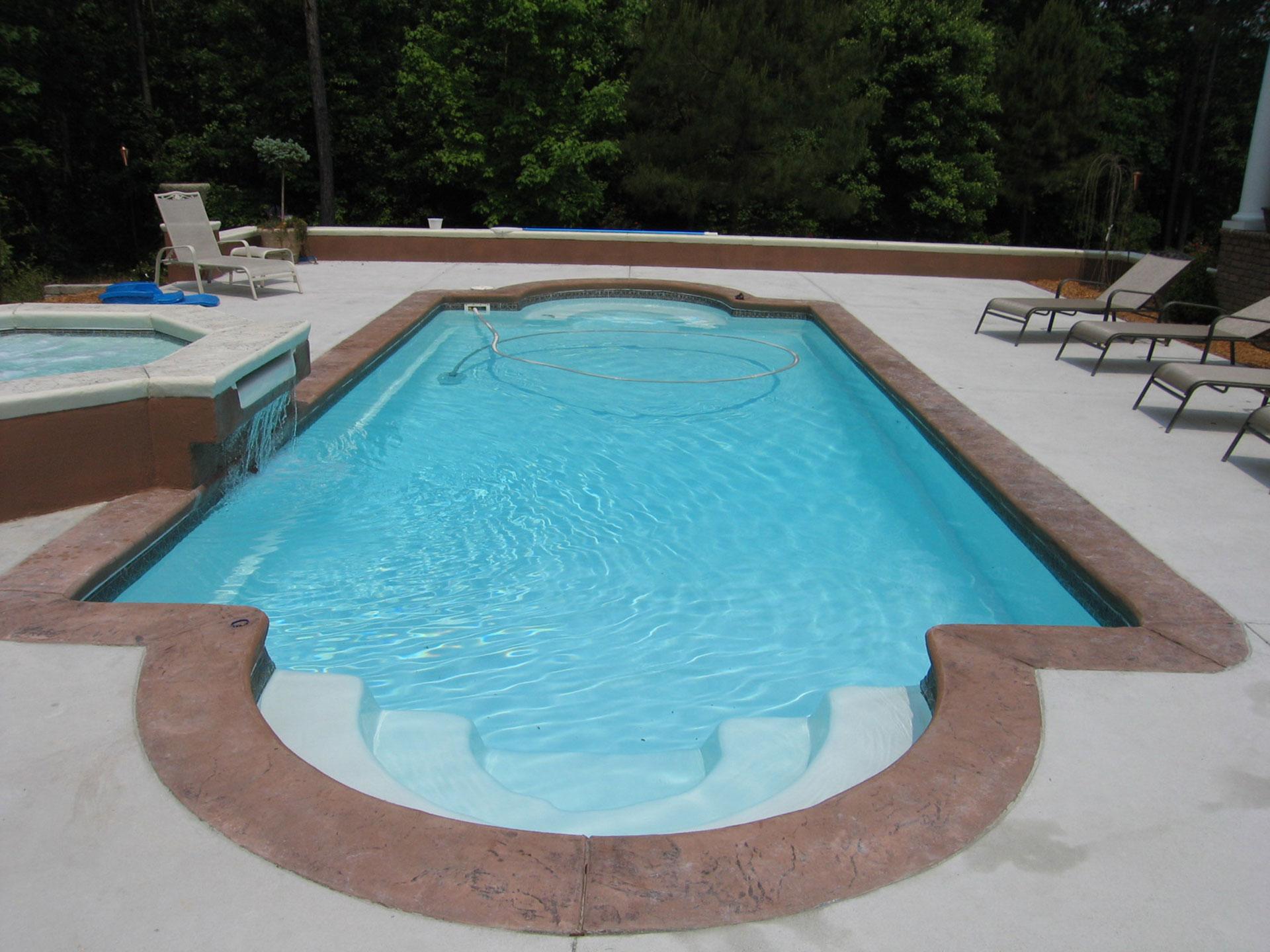 Fiberglass Pool And Spa Combination