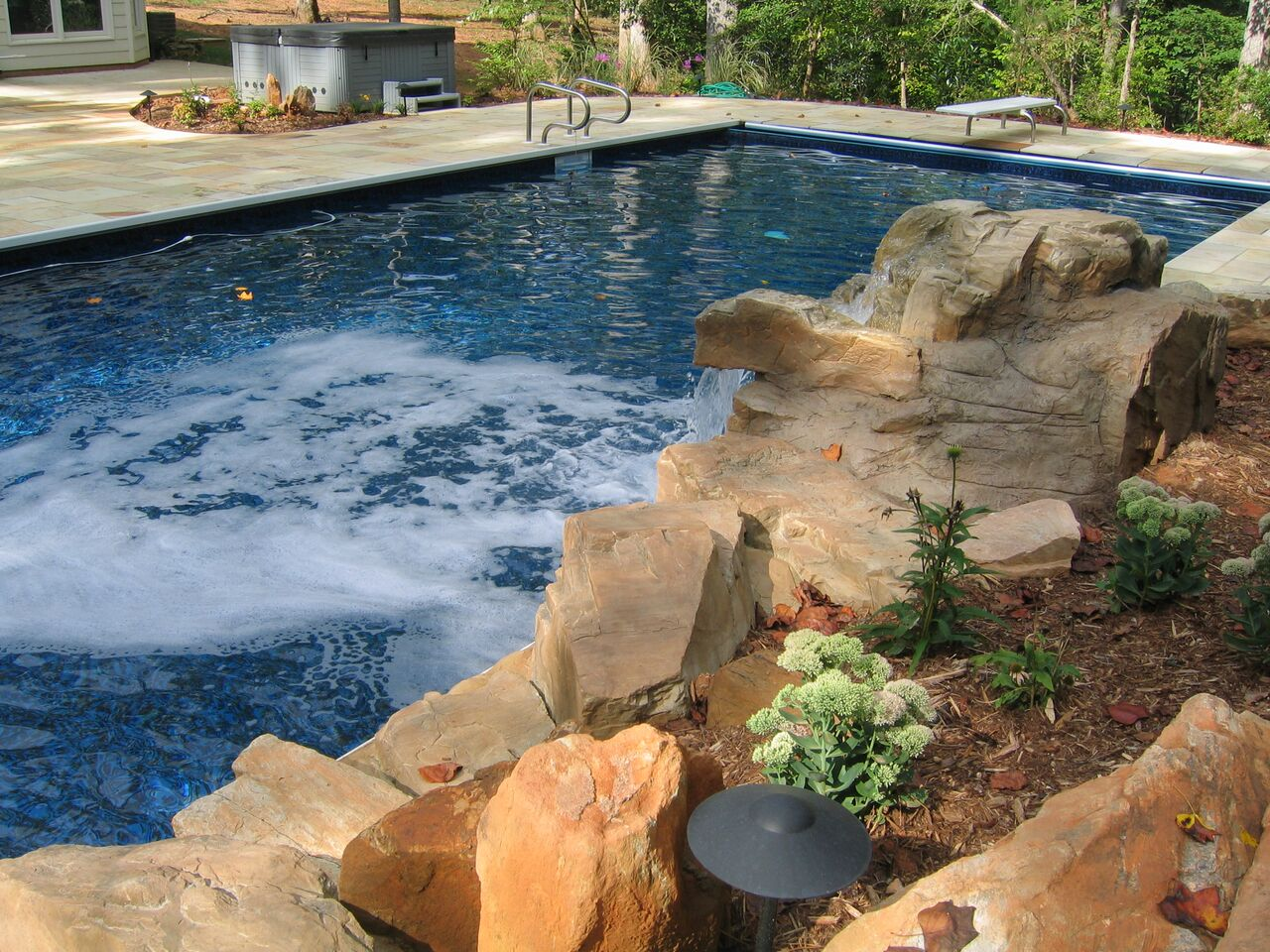 Full size of exteriorsmall backyard pools small backyard pools modern backyard rectangular lap - Rectangle pool with water feature ...